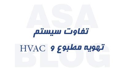 سیستم تهویه مطبوع و HVAC